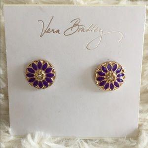Vera Bradley Purple Flower Coin Posts